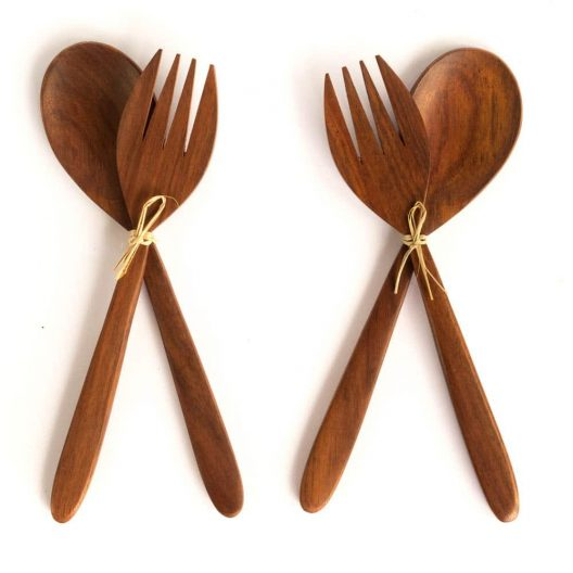 Bali Boo Coconut Bowl - Cuttlery Set - 2 Pieces