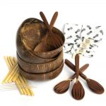 Bali Boo Coconut Bowl Set of 4