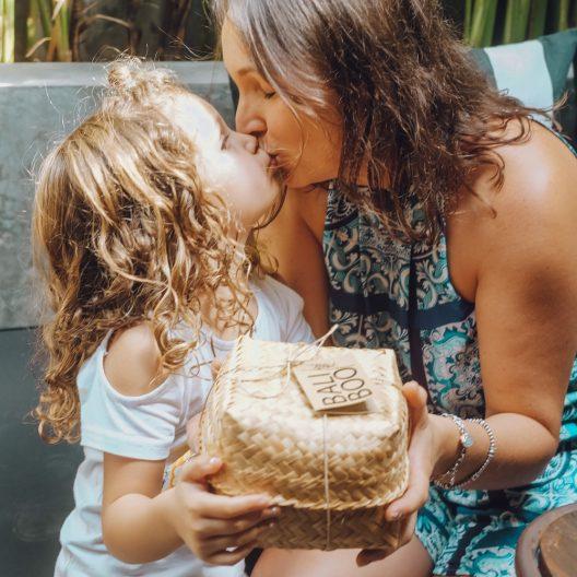 cuencos de coco set familiar de Bali Boo