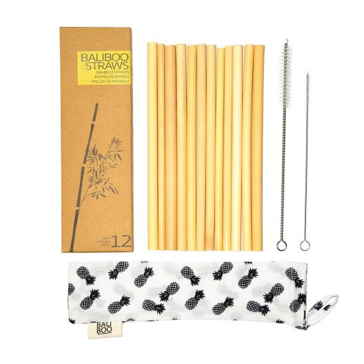 Bamboo Straws - Pack of 12 Pieces