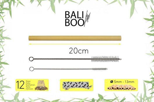 Bali Boo - Bamboo Straws - Size