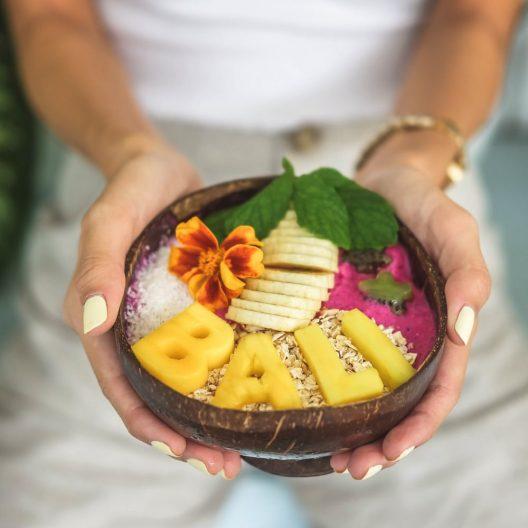 Bali en un cuenco de coco