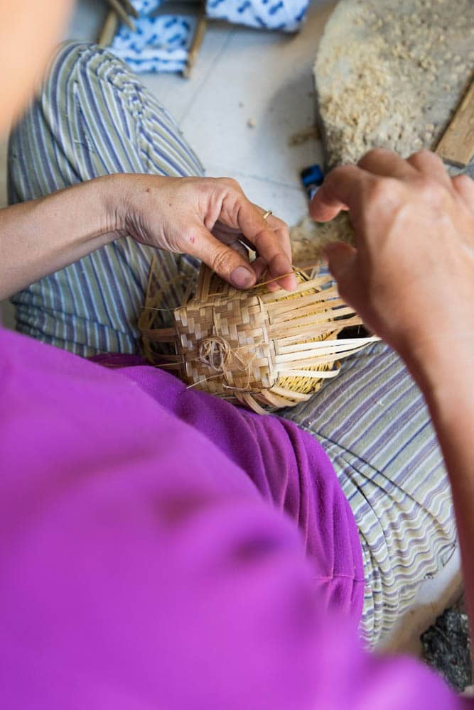 It takes Manik one full day to make one single basket