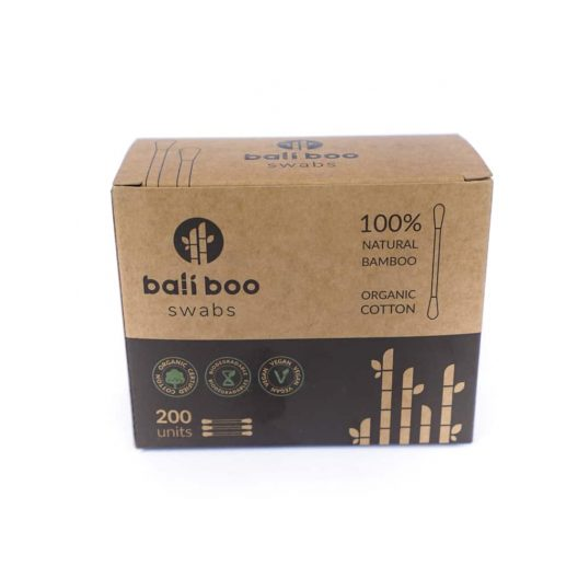 Box of 200 Bamboo Cotton Swabs by Bali Boo