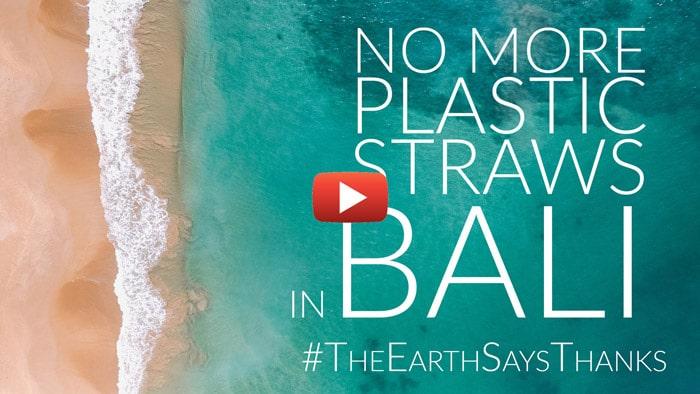 Enlace de video para el proyecto #TheEarthSaysThanks: regalar alternativas naturales a las pajitas de plástico