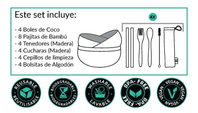 Set Familiar Cuencos de Coco - de Bali Boo