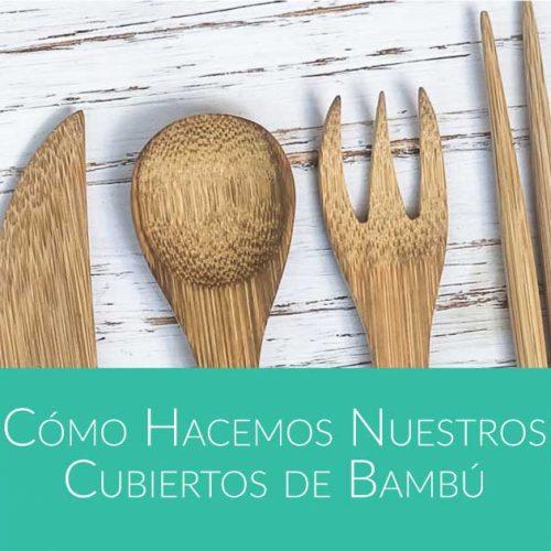 cómo hacer cubiertos de bambú de Bali Boo