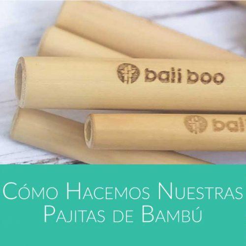 cómo hacer pajitas de bambú de Bali Boo