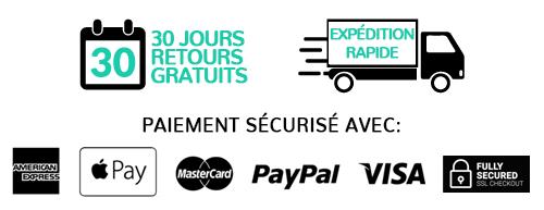 paiement sécurisé-retours-gratuits-expédition-rapide