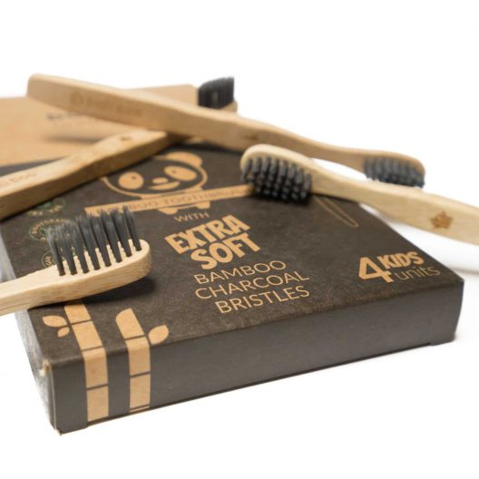 bamboo toothbrush with extra soft bristles for kids